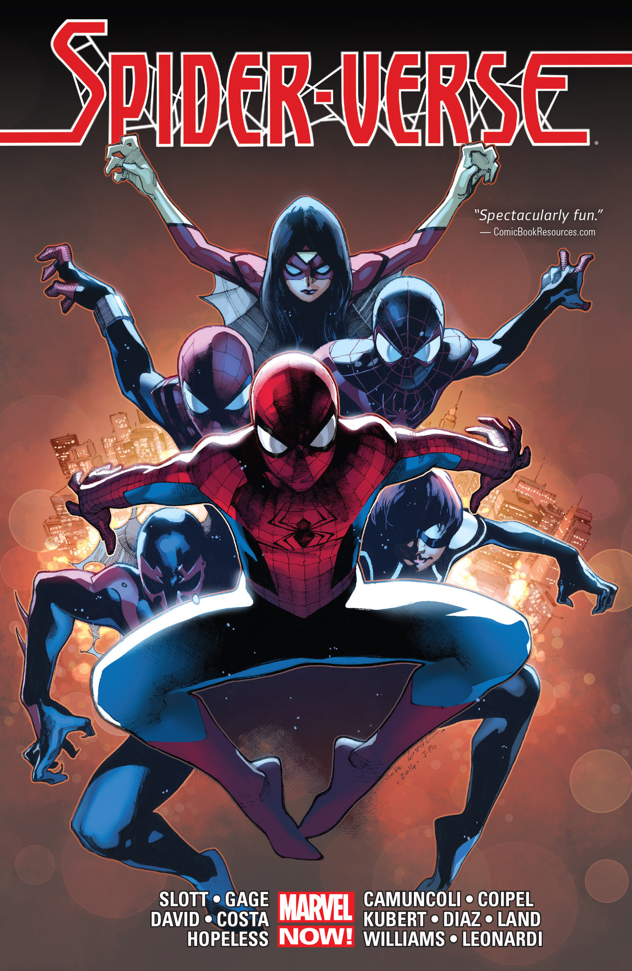 Marvel's Spider-Verse Comic cover