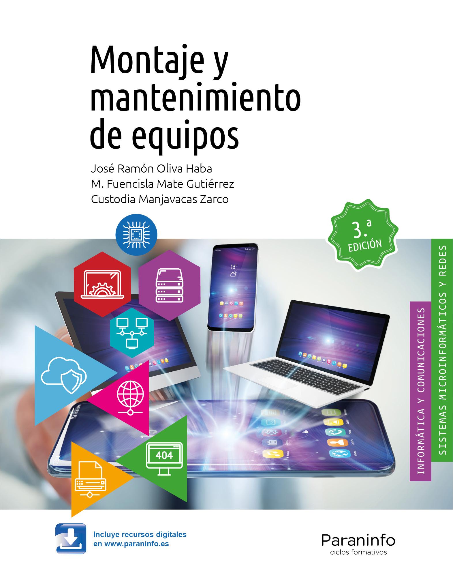 Montaje y mantenimiento de equipos de José Ramón Oliva Haba, Custodia Manjavacas Zarco y M. Fuencisla Mate Gutiérrez